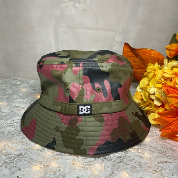 DC Camo Bucket Hat with adjustable chin string